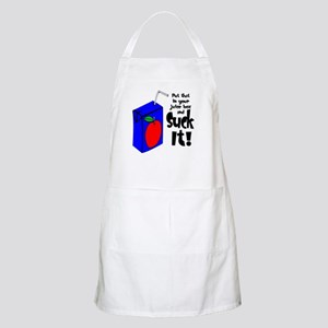 Juice Box Suck It Apron