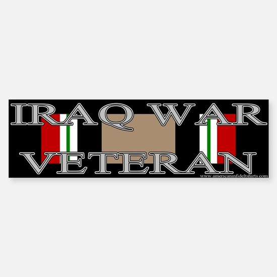 Iraq Veteran Ribbon Bumper Bumper Bumper Sticker
