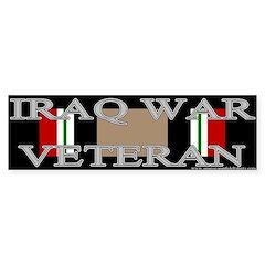 Iraq Veteran Ribbon Bumper Bumper Sticker