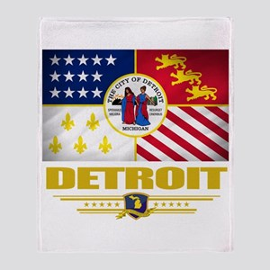 Detroit Pride Throw Blanket
