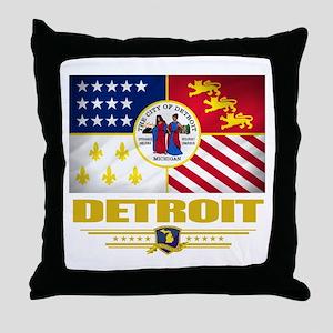 Detroit Pride Throw Pillow
