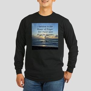 GOD MIRACLE Long Sleeve Dark T-Shirt