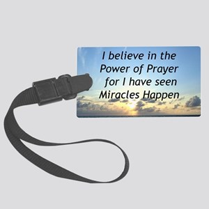 GOD MIRACLE Large Luggage Tag