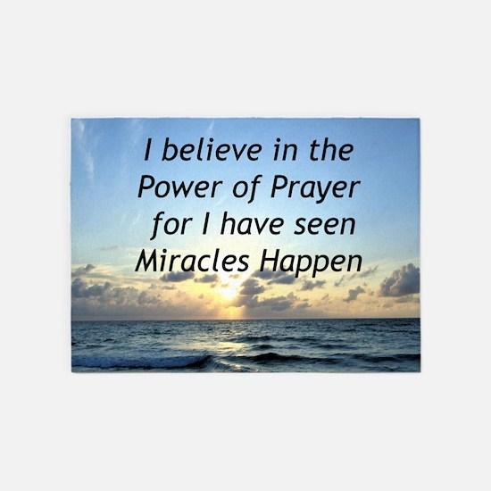 GOD MIRACLE 5'x7'Area Rug