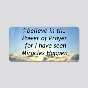GOD MIRACLE Aluminum License Plate