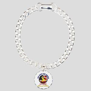 Proud Mom Charm Bracelet, One Charm
