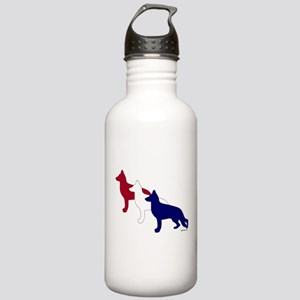 Patriotic German Shepherds Stainless Water Bottle