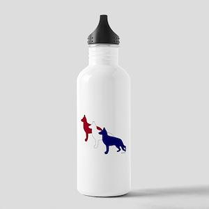 Patriotic German Shepherds Stainless Water Bottle