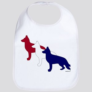 Patriotic German Shepherds Bib
