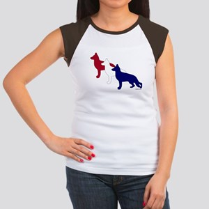 Patriotic German Shepherds Women's Cap Sleeve T-Sh