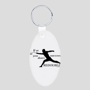 Redouble Aluminum Oval Keychain