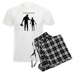 Fencing Dad Men's Light Pajamas