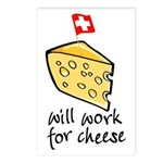 Work for Cheese Postcards (Package of 8)
