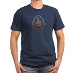 Lady of Guadalupe T1 Men's Fitted T-Shirt (dark)