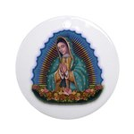 Lady of Guadalupe T1 Ornament (Round)