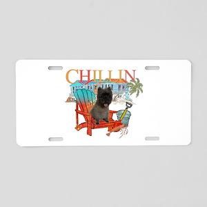 Cairn Terrier Chillin' Aluminum License Plate