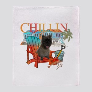 Cairn Terrier Chillin' Throw Blanket