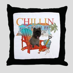 Cairn Terrier Chillin' Throw Pillow