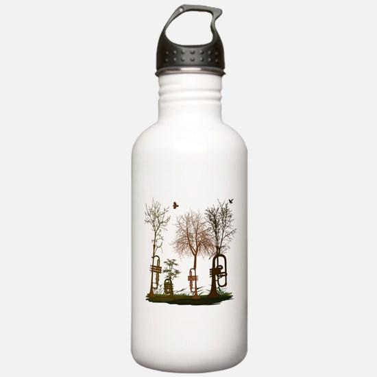 Trumpets as Trees Water Bottle