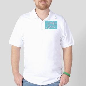 Cherry Blossom - Robin Egg Blue Golf Shirt