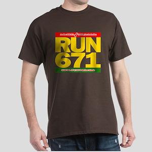 RUN 671 GUAM REGGEA Island Kings tee Dark T-Shirt