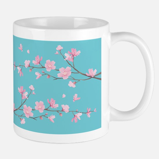 Cherry Blossom - Robin Egg Blue Mugs