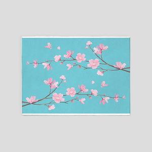 Cherry Blossom - Robin Egg Blue 5'x7'Area Rug