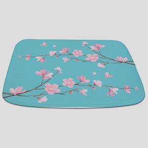 Cherry Blossom - Robin Egg Blue Bathmat