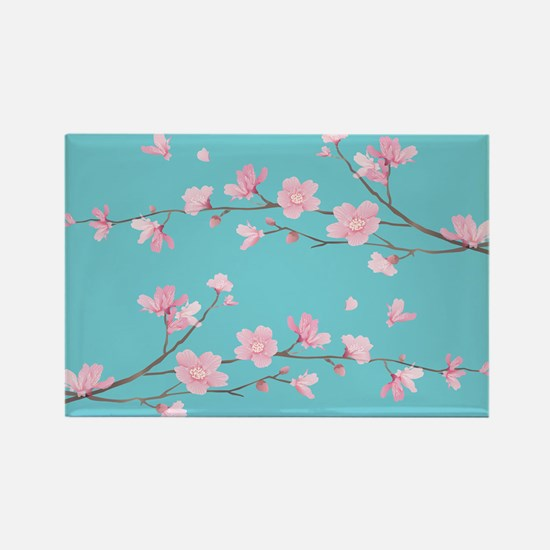 Cherry Blossom - Robin Egg Blue Magnets