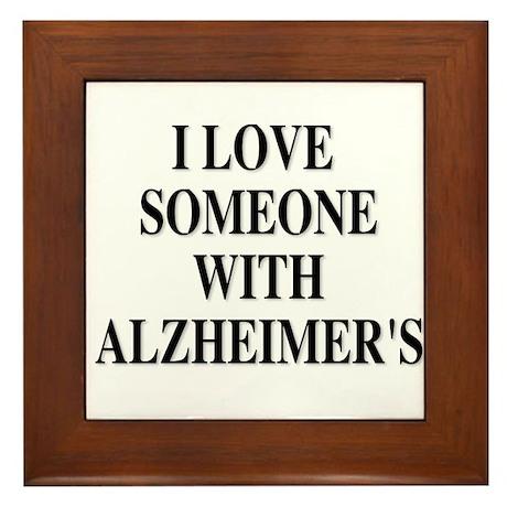 Alzheimer's Framed Tile
