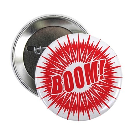 """Red Boom 2.25"""" Button (100 pack)"""