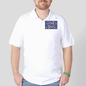 Cherry Blossom Golf Shirt