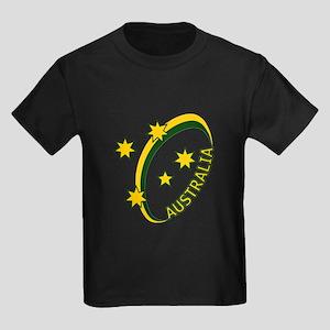Aussie rugby cross 1 Kids Dark T-Shirt