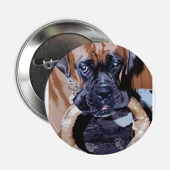 """BOXER DOG HOOP DOOR KNOCKER 2.25"""" Button"""