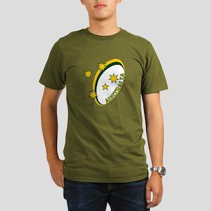Aussie rugby cross 1 Organic Men's T-Shirt (dark)