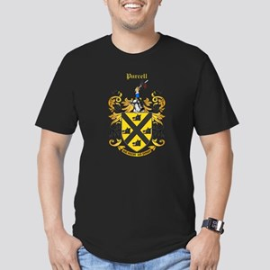 Purcell Coat of Arms Men's Fitted T-Shirt (dark)