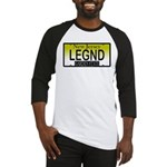 Legend NJ Vanity Plate Baseball Jersey