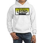 Legend NJ Vanity Plate Hooded Sweatshirt