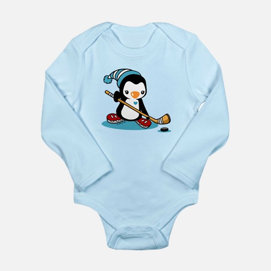 Ice Hockey Penguin Onesie Romper Suit