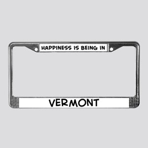 Happiness is Vermont License Plate Frame