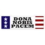 USA: Dona Nobis Pacem bumper sticker