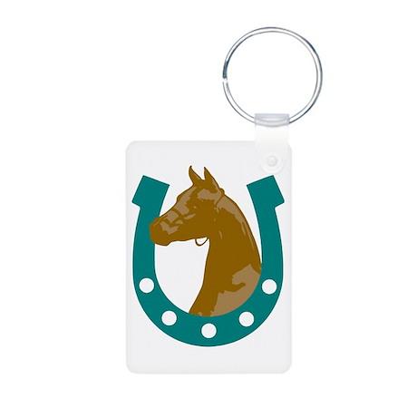 Lucky Horse Aluminum Photo Keychain