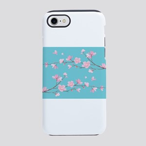 Cherry Blossom - Robin Egg Blu iPhone 7 Tough Case