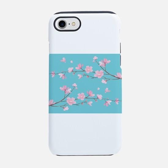 Cherry Blossom - Robin Egg Blu iPhone 7 Tough Case