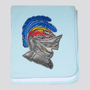 Armor Helmet Blue Feather baby blanket