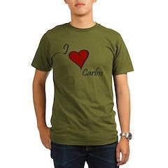 I love Carlos Organic Men's T-Shirt (dark)