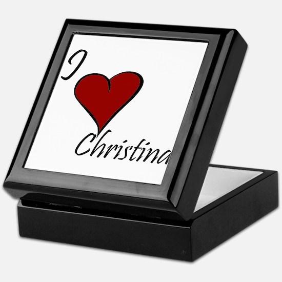 I love Claudia Keepsake Box