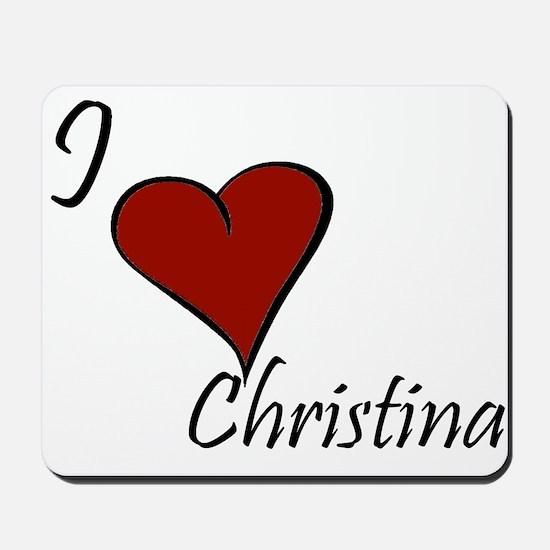 I love Claudia Mousepad