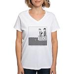Smaller Boat Women's V-Neck T-Shirt