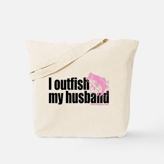 Outfish My Husband Tote Bag